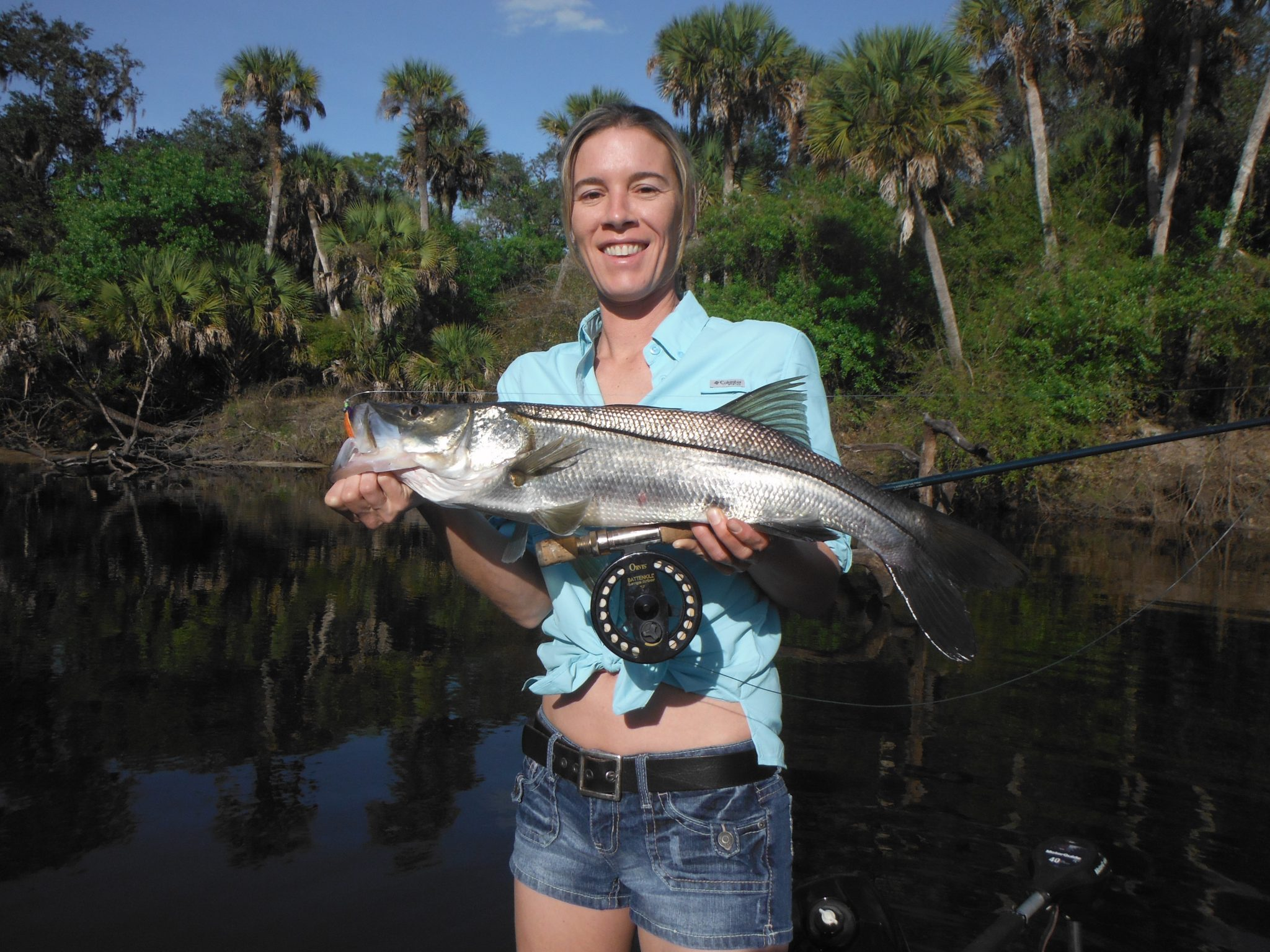 Fly fishing for river snook